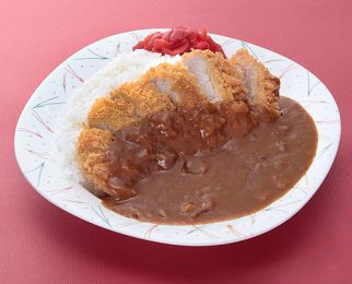 Curry and rice with pork cutlet 1,100 yen
