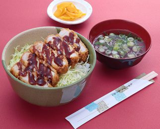 Sangen pork cutlet rice bowl 1,300 yen
